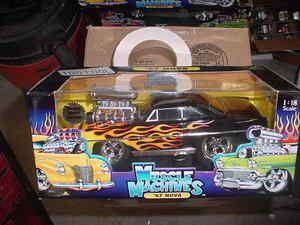 1967 Chevy Nova Black with Flames 1 18 Scale 67 Nova Chevrolet