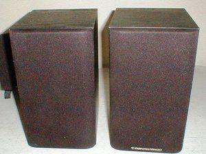 Pair 2 Cerwin Vega Black Bookshelf Stereo Home Audio Speakers Model LS