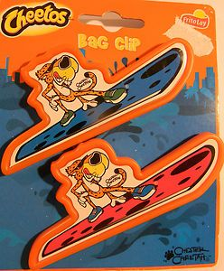 CHEETOS Chip Clips CHESTER CHEETAH on a SURFBOARD Keeps Chips Fresh