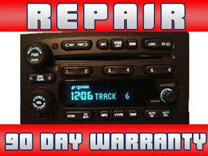 Repair Only Chevy SSR GMC Envoy 6 Disc Changer CD Player Radio 90 Day