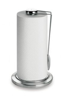 POLISHED STAINLESS STEEL CHROME PAPER TOWEL HOLDER TABLE COUNTER TOP