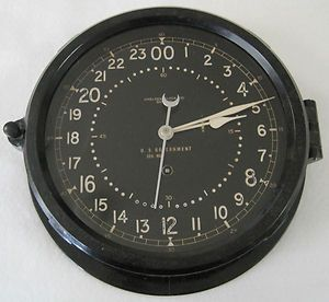 1956 Chelsea Maritime 24 Hour SHIPs Clock Air Force