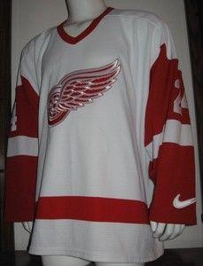 XL Mens Nike Chris Chelios Detroit Red Wings NHL Hockey Jersey White