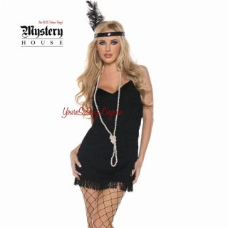 Flapper Fancy Burlesque Costume Feathers Fringe Fredericks of