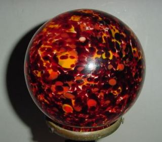 Vintage Art Deco End of The Day Glass Globe Czech Art Glass Lamp Shade