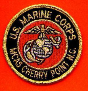 cherry point n c usmc patch small sized u s marine corps mcas cherry