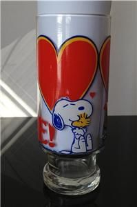 tall peanuts love glass charlie brown snoopy woodstock
