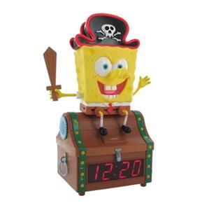 CHILDS EMERSON SPONGEBOB SQUAREPANTS*TREASURE CHEST*ALARM CLOCK RADIO