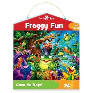 Masterpieces Froggy Fun Kids Jigsaw Puzzle 24 PC