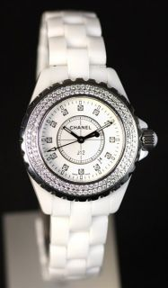 Chanel J12 Ceramic 33mm Ladies Diamond Watch RRP. £7,925.00