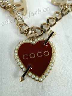 Chanel Coco Rider Motorcycle Heart Charm Bracelet New