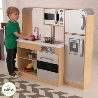 New Childrens Kids Wood Wooden Pretend Play Ultimate Chefs Kitchen