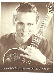 CHET ATKINS  1940s RCA VICTOR RECORDING ARTIST country singer posed