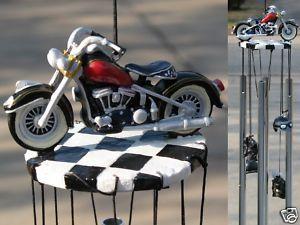 Motorcycle Bike Biker Hog Harley Windchime Wind Chime 3