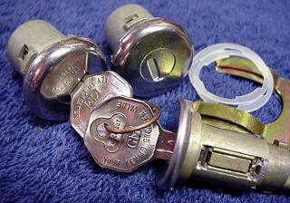New Door & Ignition Lock Set With Keys GM Chevrolet Chevelle 1968