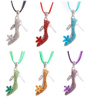57 35mm Charms High Heels Cup Pendant Necklace jewellry Bead Crystal