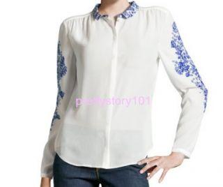 New Woman Girl China Porcelain Pattern Long Sleeve Blouse Top Shirt