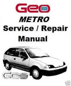 1985 1994 Geo Chevrolet Metro Service Repair Manual Guide Swift Firely