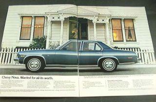 1979 79 Chevrolet Chevy Nova Brochure Custom Hatchback