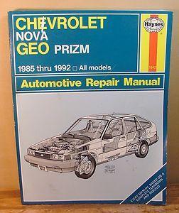 Haynes Chevrolet Nova Geo Prizm 1985 thru 1992 Automotive Repair