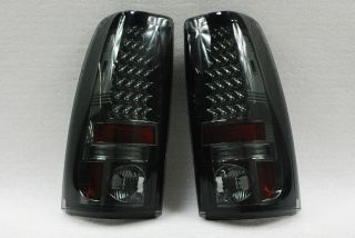 03 06 Chevy Silverado GMC Sierra Pickup 1500 2500 3500 Smoke LED Tail