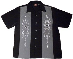Tribal Spiders Biker Shirt Dragonfly M L XL 2X 3X
