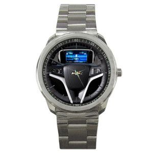 New Chevrolet Volt Sedan Steering Wheel Custom Mens Sport Metal Watch