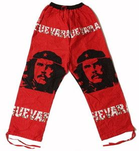 Che Guevara Long Red Pants JL10 Free Size Jamaica Bob Marley Hippie