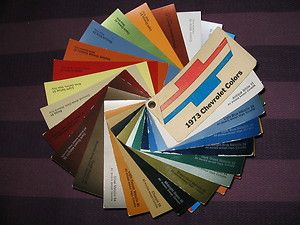 1973 Chevrolet Dealer Paint Chip Fan Chart Colors All Chevy Models