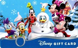 Disney Gift Card Christmas 2010 Mickey Mouse Glitter Collectible No
