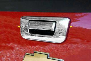 07 12 Chevy Silverado Tailgate Handle Cover Mirror Truck Chrome Trim