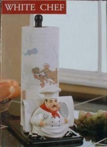 Fat Chef Bistro Paper Towel Napkin Holder Set New