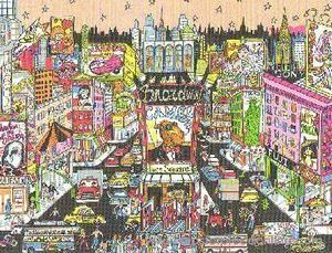 Charles Fazzino Broadway Bound 3 D Serigraph