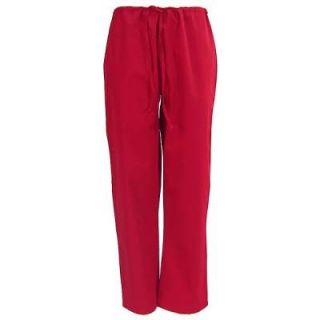 New Scrub Station Womens 3X 3XL Red Medical Uniform Drawstring Pant