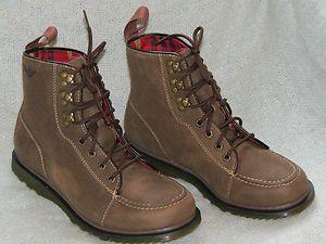 Dr Martens Men s WALDEN Sz 41 Eur 8M Dark Brown Leather Boot NEW