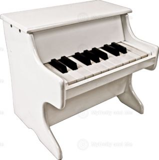 White Wooden Piano Musical Instrument Childrens Toy New
