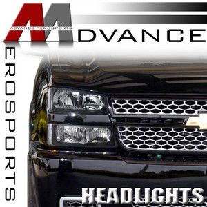 2002 2006 Chevy Avalanche 1500 2500 JDM Black Headlights Bumper Corner