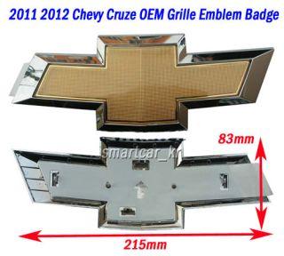 2011 2012 Chevrolet Cruze OEM front Grille Bowtie Emblem Badge