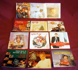 COUNTRY MUSIC CHRISTMAS CD LOT OF 12 Anne Murray Kenny Rogers Gatlins