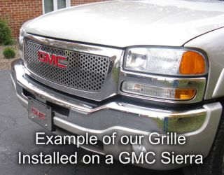 Chevy S10 98 04 Polished Stainless Bar Billet Grille Insert Truck
