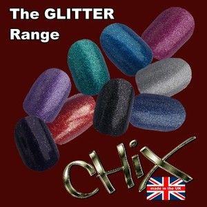 Chix Nail Wraps Foils Glitter Finger Toes Trendy Vinyl Art Nails