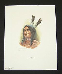 John Ruthven Hand Signed Limited Edition Print Miami Indian II