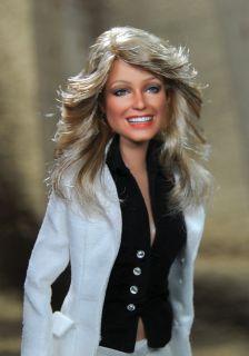 Doll Farrah Fawcett in Charlies Angels Repaint by Noel Cruz