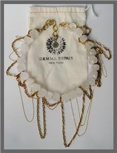 Gemma Redux Rock Candy Necklace Rough Cut Rock Crystals 24K GLDPLT