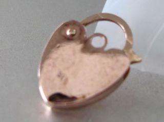 Vintage 9ct Rose Gold Small Padlock for Charm Bracelet