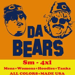 1182 DA CHICAGO BEARS funny football retro 80s jersey MENS T Shirt
