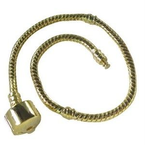 Pcs European Style Gold Plated Charm Bracelets 23cm
