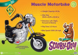 Scooby Doo Motorized Chopper