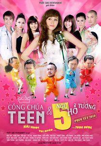 Cong Chua Teen NGU HO Tuong Bo 2 DVDs Phim Hai VN