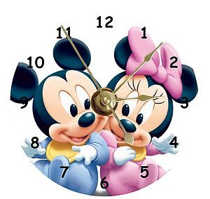 New Childrens Baby Mickey Minnie Mouse CD Clock